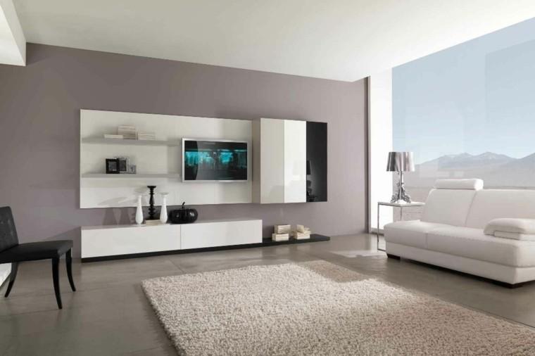 Sala de estar moderna de estilo minimalista 100 ideas for Disenos de muebles de sala