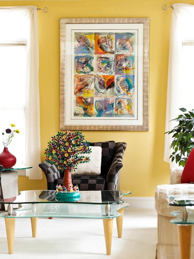 Decorar con cuadros 25 ideas para el hogar moderno for Objetos modernos para decorar el hogar