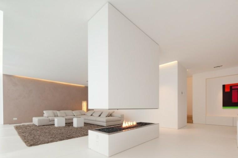 salon estilo minimalista blanco amplio sofa beige ideas