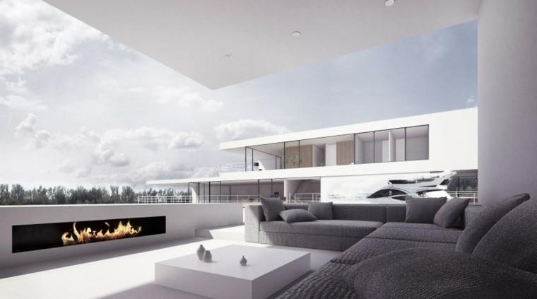 salon exterior cubierto moderno