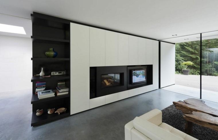 salon moderno mesa madera natural