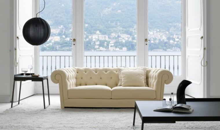 salon estilo minimalista sofa beige