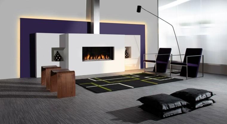 salon estilo moderno cojines suelo