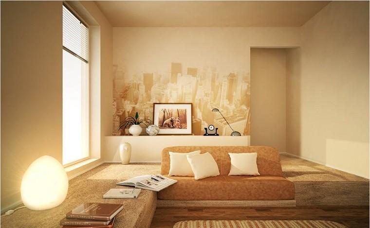 Colores calidos para el sal n 50 ideas impresionantes for Colores beige para paredes exteriores