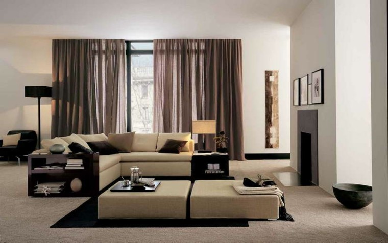 salon moderno decorado colores neutros