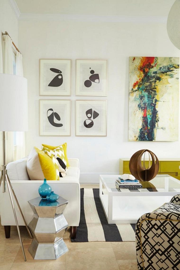 Decorar con cuadros 25 ideas para el hogar moderno - Colores de pinturas para salones ...