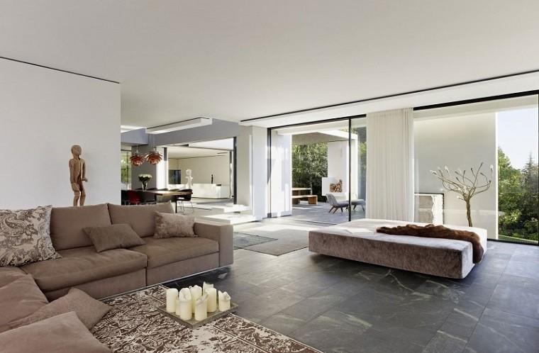 salon moderno diseno velas suelo alfombra amplio ideas