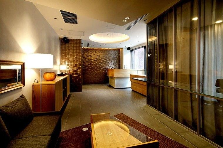 salon moderno espacioso mosaico pared ideas