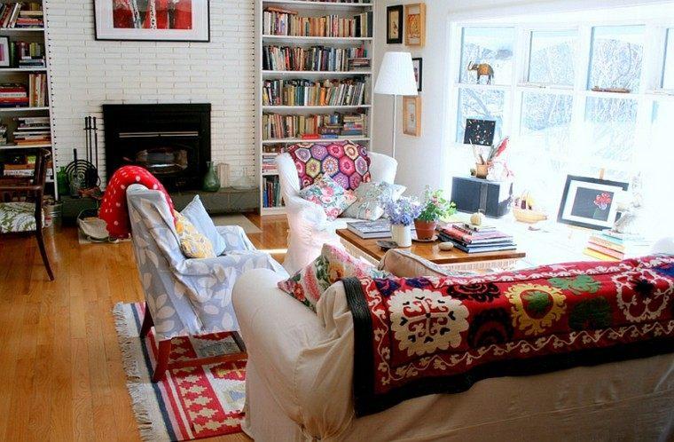 salon moderno estilo bohemio diseno precioso ideas