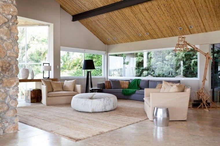 salon moderno otomana redonda sofa gris ideas