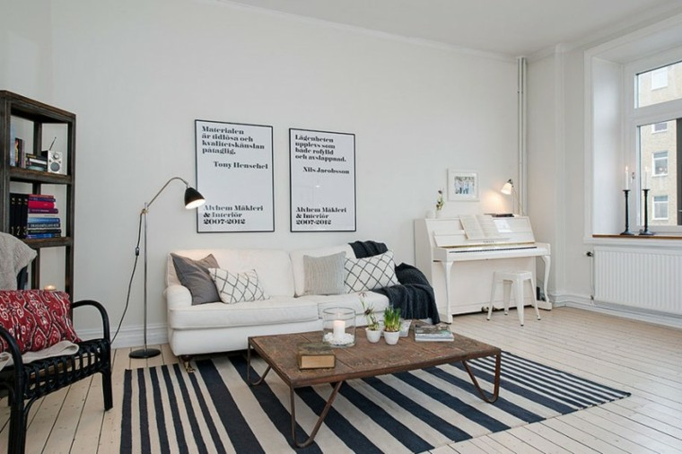 Color blanco para muebles y paredes en el salón Столик Круглый