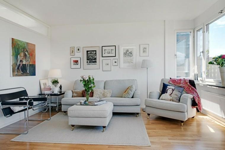 Color blanco para muebles y paredes en el sal n for Pintura gris claro pared