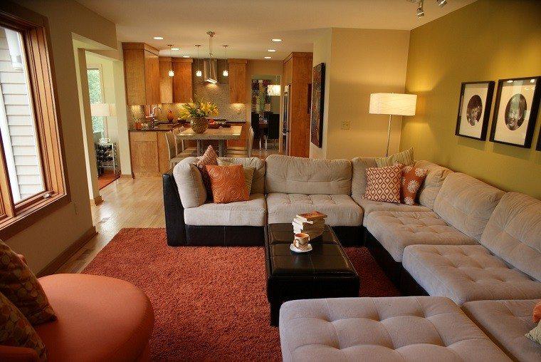 Colores calidos para el sal n 50 ideas impresionantes - Decorar las paredes del salon ...