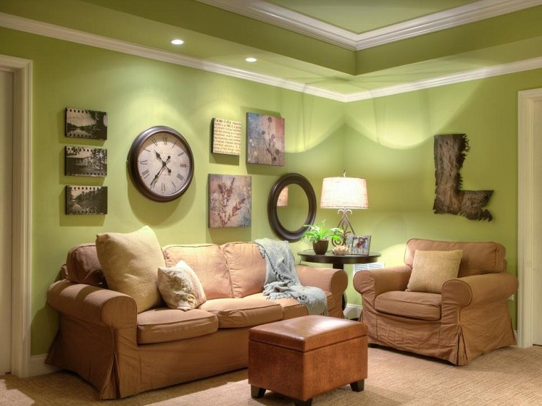 Decorar con cuadros 25 ideas para el hogar moderno for Relojes decorativos para salon
