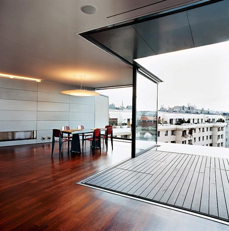 salon diseño moderno terraza atico