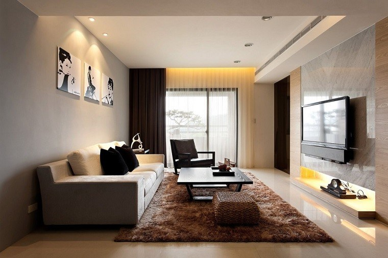 salon pequeño diseño estilo lujoso