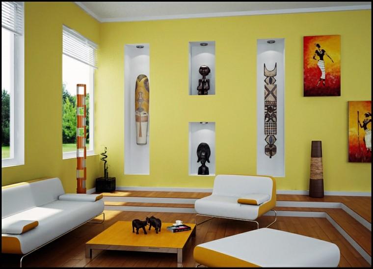 salon precios estilo africano pared azul ideas