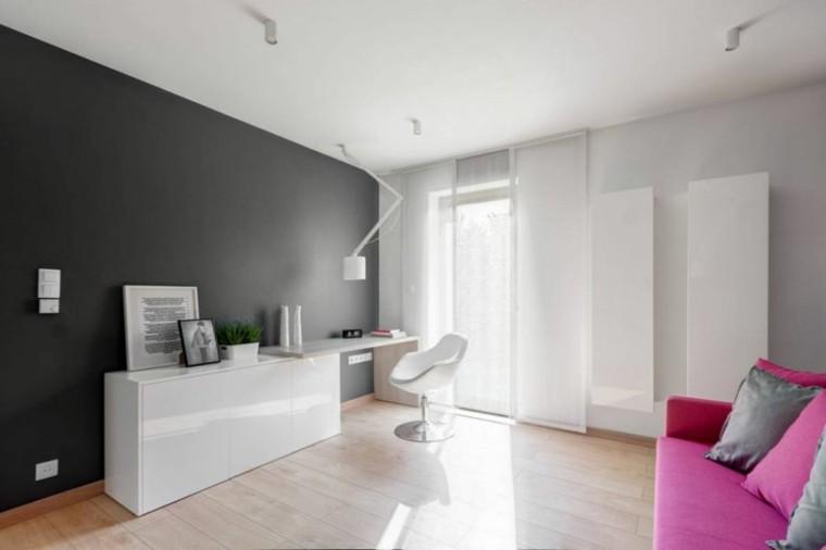 salon rosa decoracion pard oscura