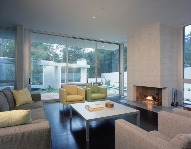 salon sillon ámarilo verde diseño