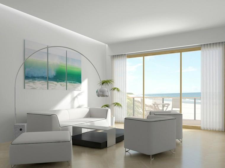 salones blancos vistas playa