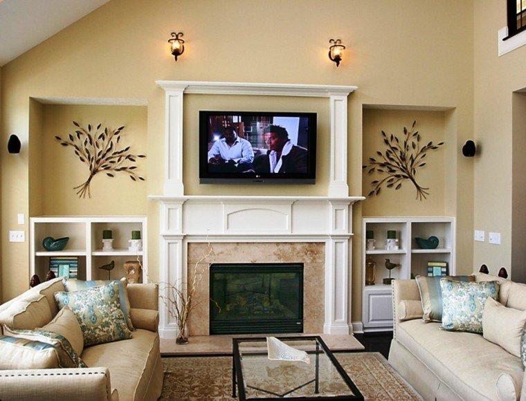 Salones chimenea y decoraci n creando la diferencia for Muebles de salon con chimenea