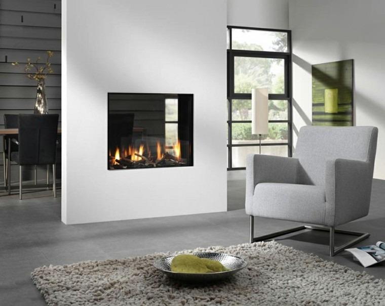 Salones chimenea y decoraci n creando la diferencia - Chimeneas para pisos ...
