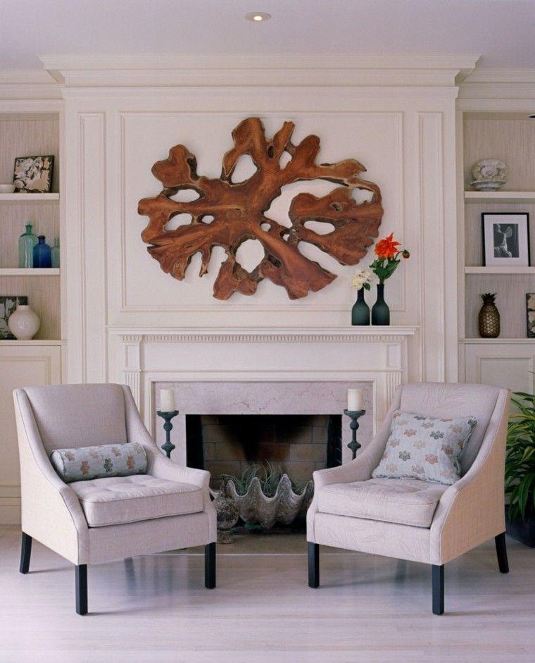 Salones chimenea y decoraci n creando la diferencia - Chimenea de pared ...