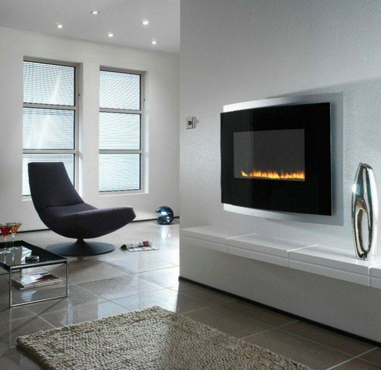 Salones chimenea y decoraci n creando la diferencia - Poner chimenea en un piso ...