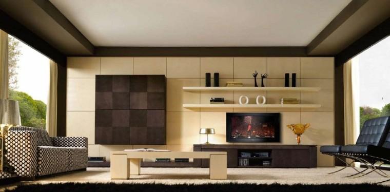 salones modernos diseño contemporaneo madera