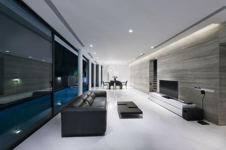 salones diseños modernos tonos grises