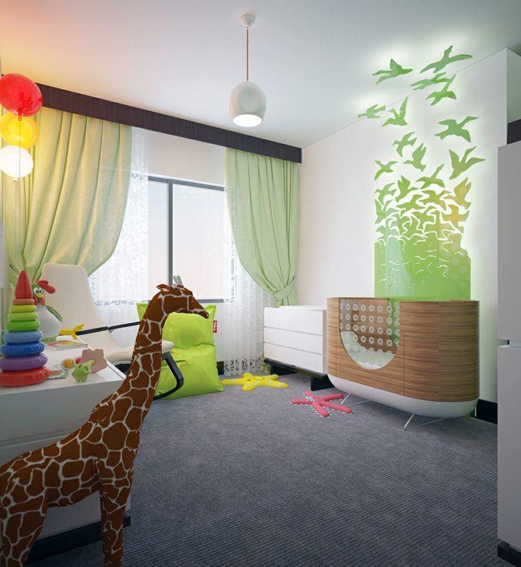 selva juguetes colores cortinas jirafa