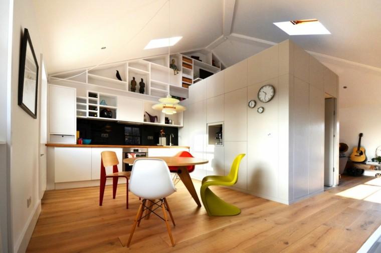 silla verde vibrante loft diseno moderno ideas