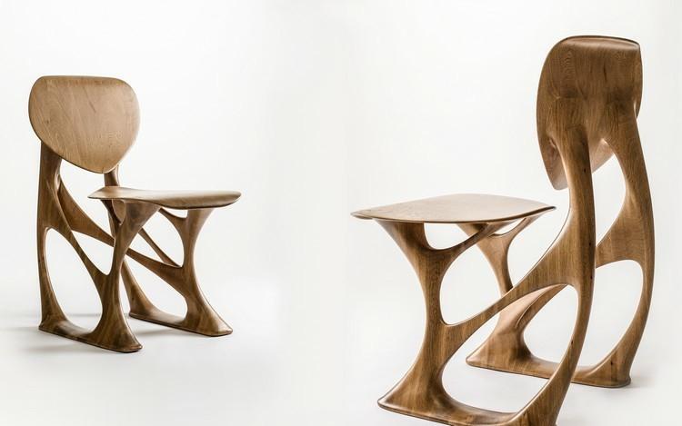 sillas madera diseño forma original