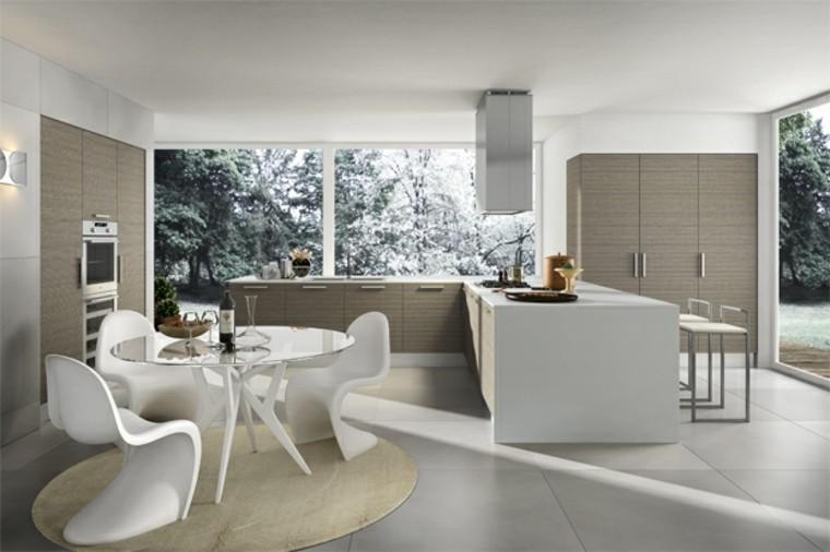 Cocinas de dise o 25 ideas sensacionales - Mesas y sillas de cocina de diseno ...
