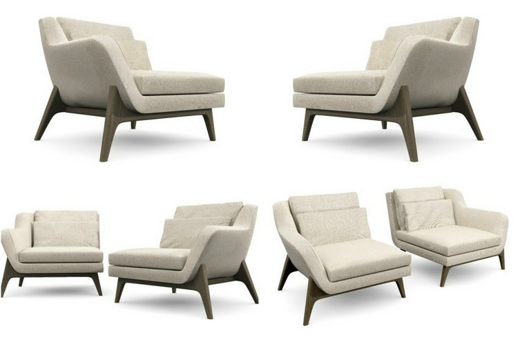 sillon estilo moderno color beige