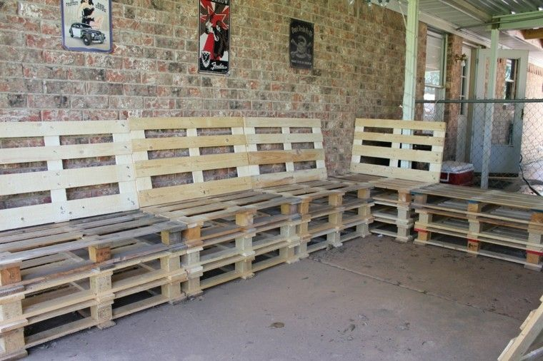 sillones sofas pallets madera asientos