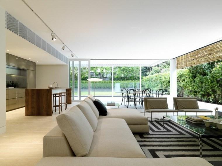 Sala de estar moderna de estilo minimalista 100 ideas for Salon de jardin casa