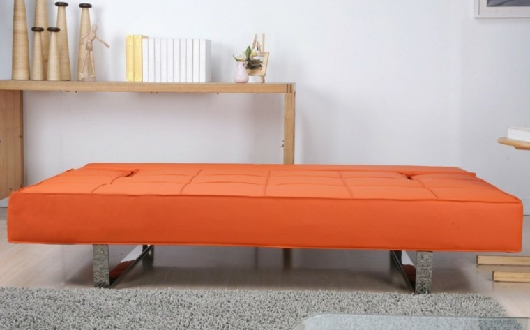 sofa canpé barato color naranja