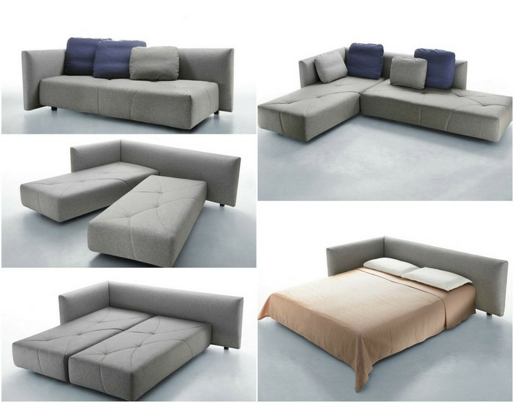 sofa cama puzle color gris