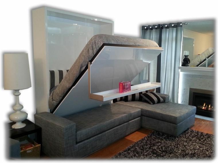 sofa cama mesilla colgante