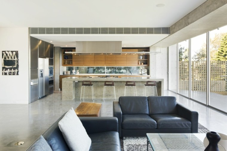 Sala de estar moderna de estilo minimalista 100 ideas - Salon comedor minimalista ...