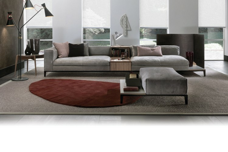sofa terciopelo color gris paloma