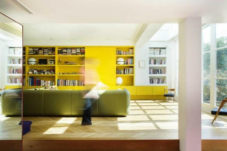 sofa color verde mueble amarillo