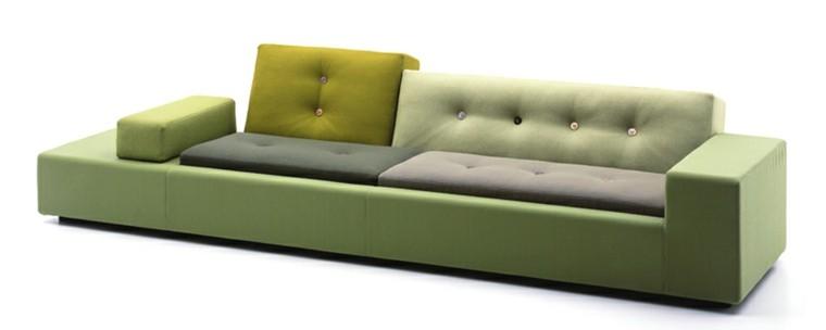 sofa moderno tonos verdes