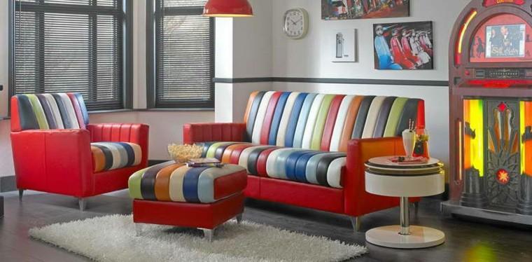 sofa piel bandas verticales colores