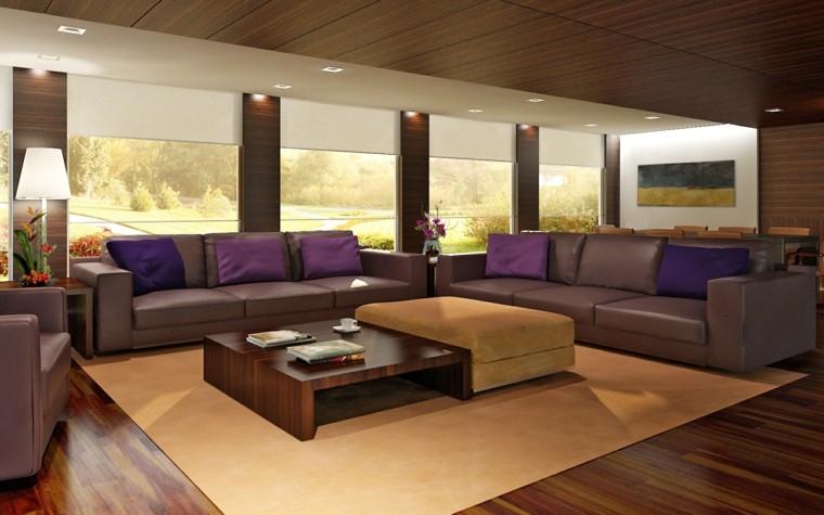 diseño sofas piel color berenjena
