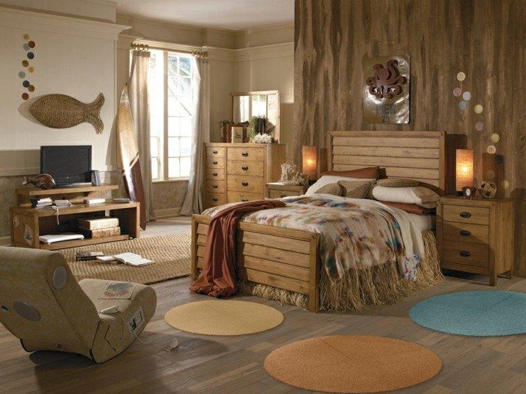 Tablas de surf decorando con aires marinos 50 propuestas - Habitacion de madera ...