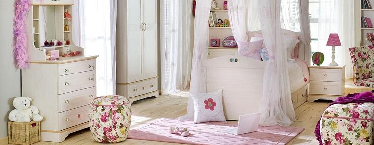 taburetes estampas florales habitacion chica ideas