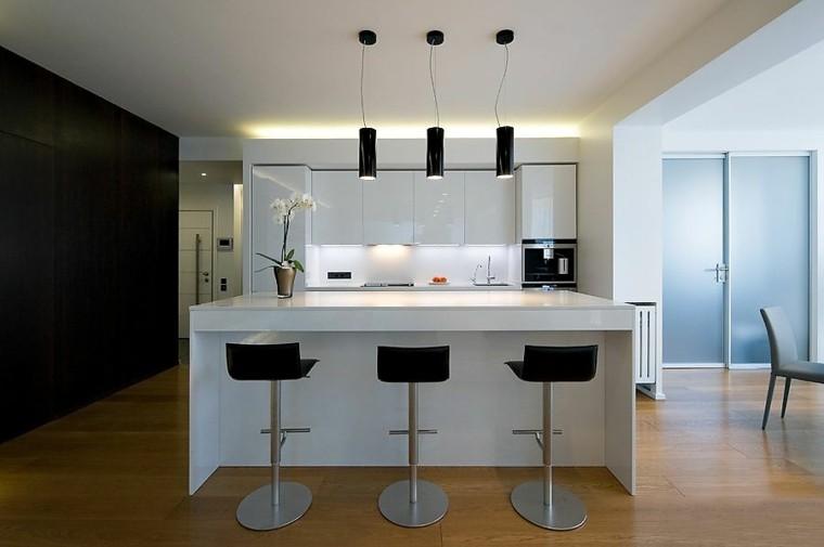 Barras de cocina de diseño moderno   50 ideas
