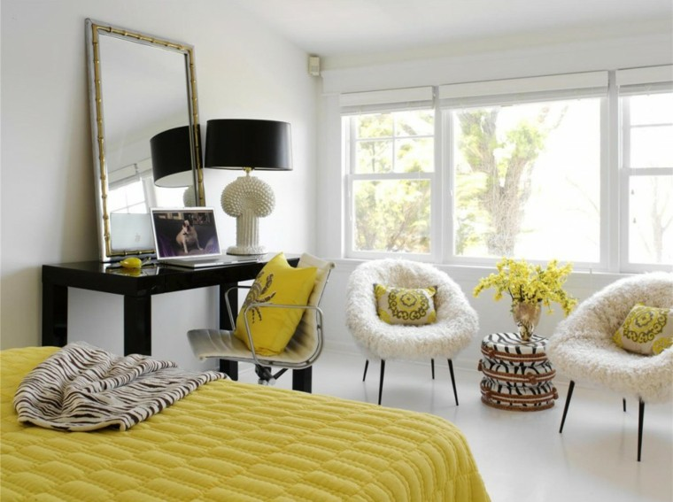 ideas para decorar una casa blanco amarillo